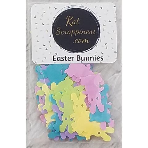 Easter Bunny Sequins - Shaker Card Fillers - NEW!