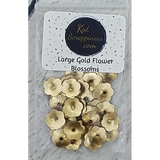 Large Gold Flower Blossom Sequins - Kat Scrappiness