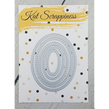 Cross Stitched Oval Dies by Kat Scrappiness - Kat Scrappiness