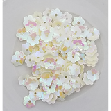 6mm Ivory Flower Blossom Sequins - Kat Scrappiness