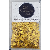 Hollow Gold Star Confetti Mix - Kat Scrappiness