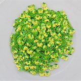 4mm (Lime) Green Flower Blossom Sequins Shaker Card Fillers