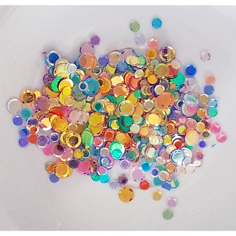 Mixed Rainbow Confetti Sequin Mix - Kat Scrappiness