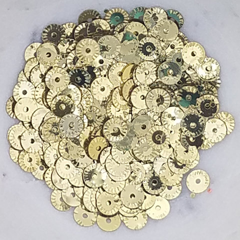 Gold Pinwheel Sequins - Kat Scrappiness