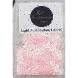 Light Pink (Hollow) Heart Confetti Mix - Shaker Card Fillers