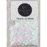 White Hearts Sequin Mix (Hearts of White)