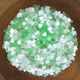 3mm Transparent Mint Green Solid Heart Confetti - Sequins - Shaker Card Fillers - Kat Scrappiness
