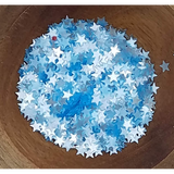 4mm Transparent Blue Solid Star Confetti - Sequins - Kat Scrappiness