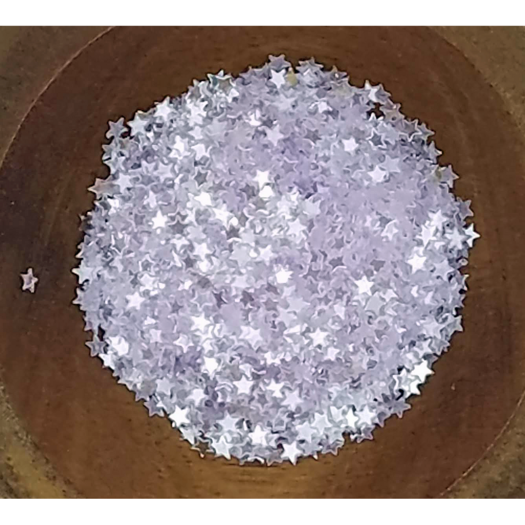 3mm Transparent Lilac Solid Stars - Sequins - Kat Scrappiness