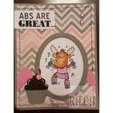 Abs are Great Cling Stamp by Riley & Co - Kat Scrappiness