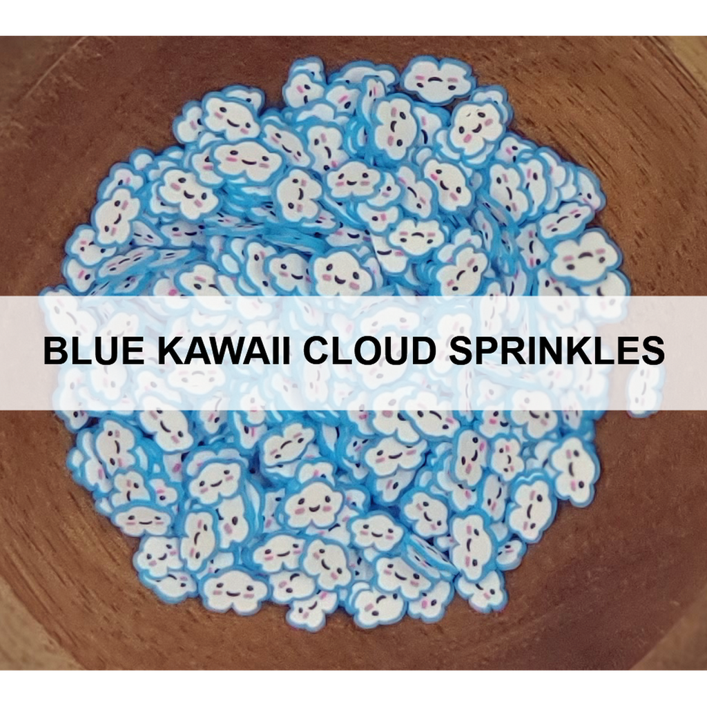 Blue Kawaii Cloud Sprinkles