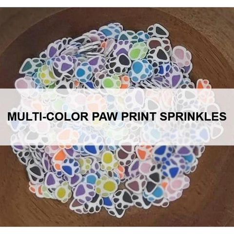 Multi-Color Paw Print Sprinkles - Kat Scrappiness