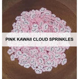 Pink Kawaii Cloud Sprinkles by Kat Scrappiness - Kat Scrappiness