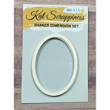 Medium Oval Shaker Card Kit by Kat Scrappiness - 020 - Kat Scrappiness