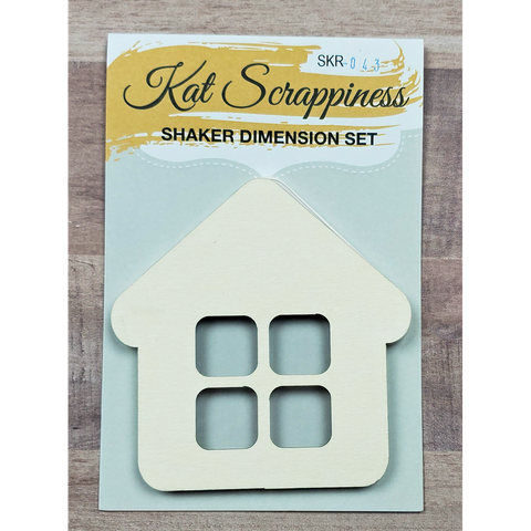 Small House Shaker Card Kit by Kat Scrappiness - 043 - Kat Scrappiness