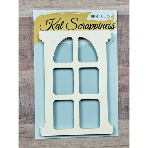 Framed Domed Window Shaker Card Kit by Kat Scrappiness - 047