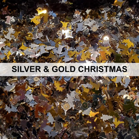 Silver & Gold Christmas Sequin Mix by Kat Scrappiness - Kat Scrappiness