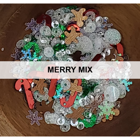 Merry Mix Christmas Sequin Mix - Kat Scrappiness