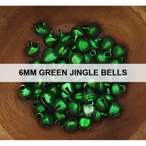 6mm Green Jingle Bells - Kat Scrappiness