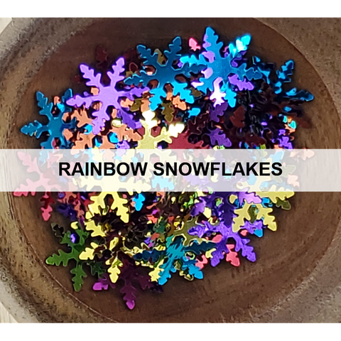 Rainbow Snowflakes Sequins - Kat Scrappiness