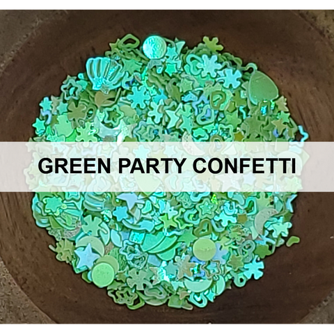 Green Party Confetti - Sequins - Kat Scrappiness