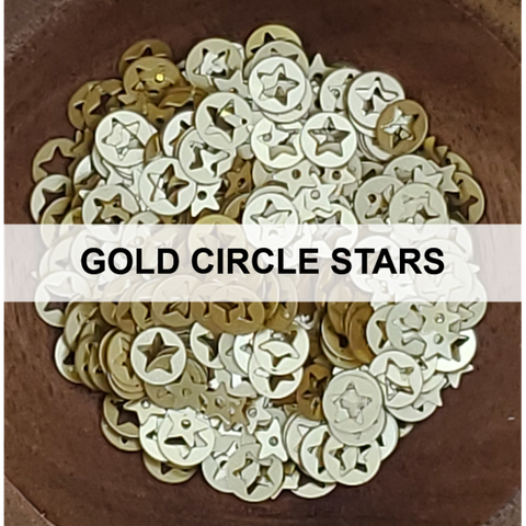 Gold Circle Star Sequins - Kat Scrappiness