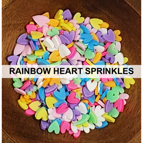Rainbow Heart Sprinkles - Kat Scrappiness
