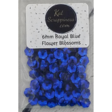 6mm Royal Blue Flower Blossoms - Sequins - Kat Scrappiness