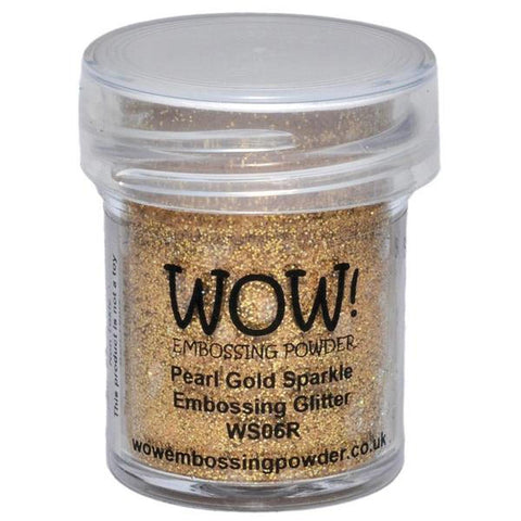 Pearl Gold Sparkle - WOW! Embossing Powder 15ml - WS06R - Kat Scrappiness