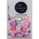 Pink Dreams Sequin Mix -  Shaker Card Fillers - Kat Scrappiness