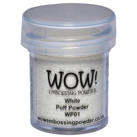 White Puff - WOW! Embossing Powder 15ml - Kat Scrappiness