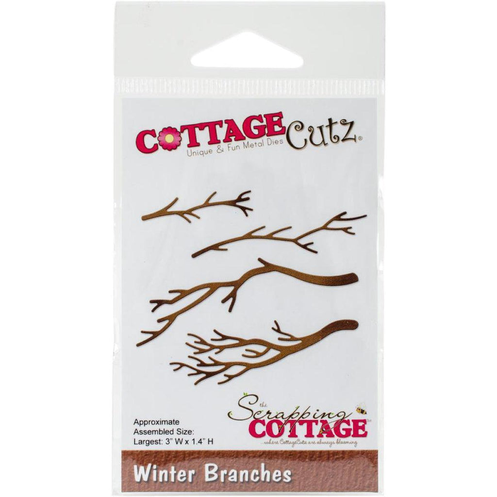 "Winter Branches, 3""X1.4"""" Die by CottageCutz - Kat Scrappiness"