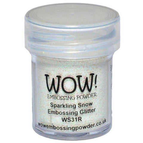 Sparkling Snow - WOW! Embossing Powder 15ml - Kat Scrappiness