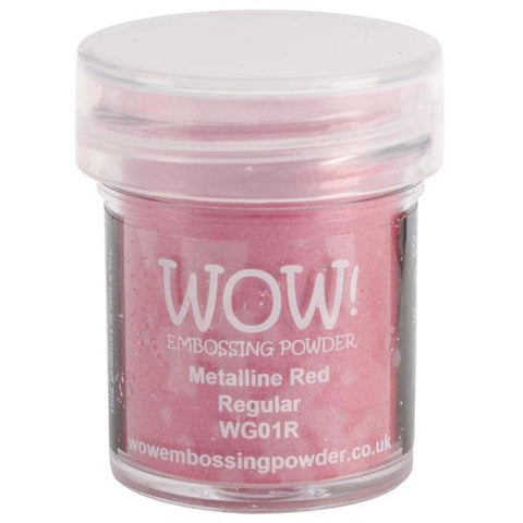 Red Metalline - WOW! Embossing Powder 15ml - Kat Scrappiness