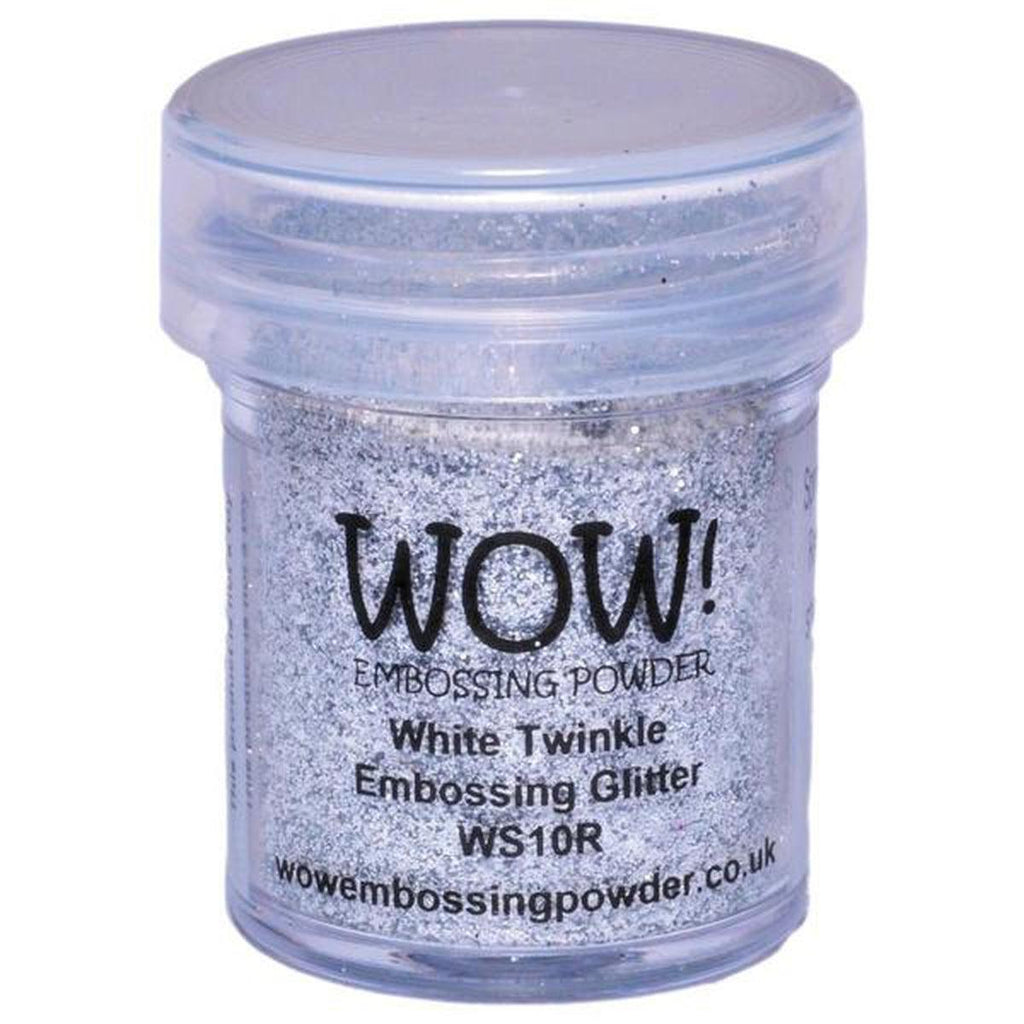 White Twinkle - WOW! Embossing Powder 15ml - Kat Scrappiness