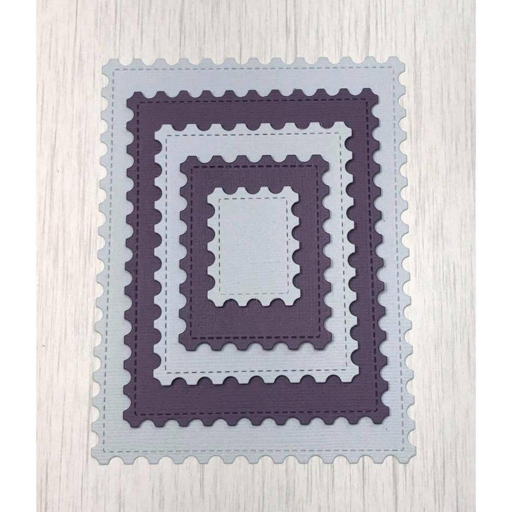 Stitched Postage Stamp Edge Rectangle Dies by Kat Scrappiness - Kat Scrappiness