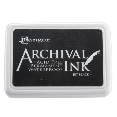 Ranger Archival Ink Pad - Jet Black - Kat Scrappiness