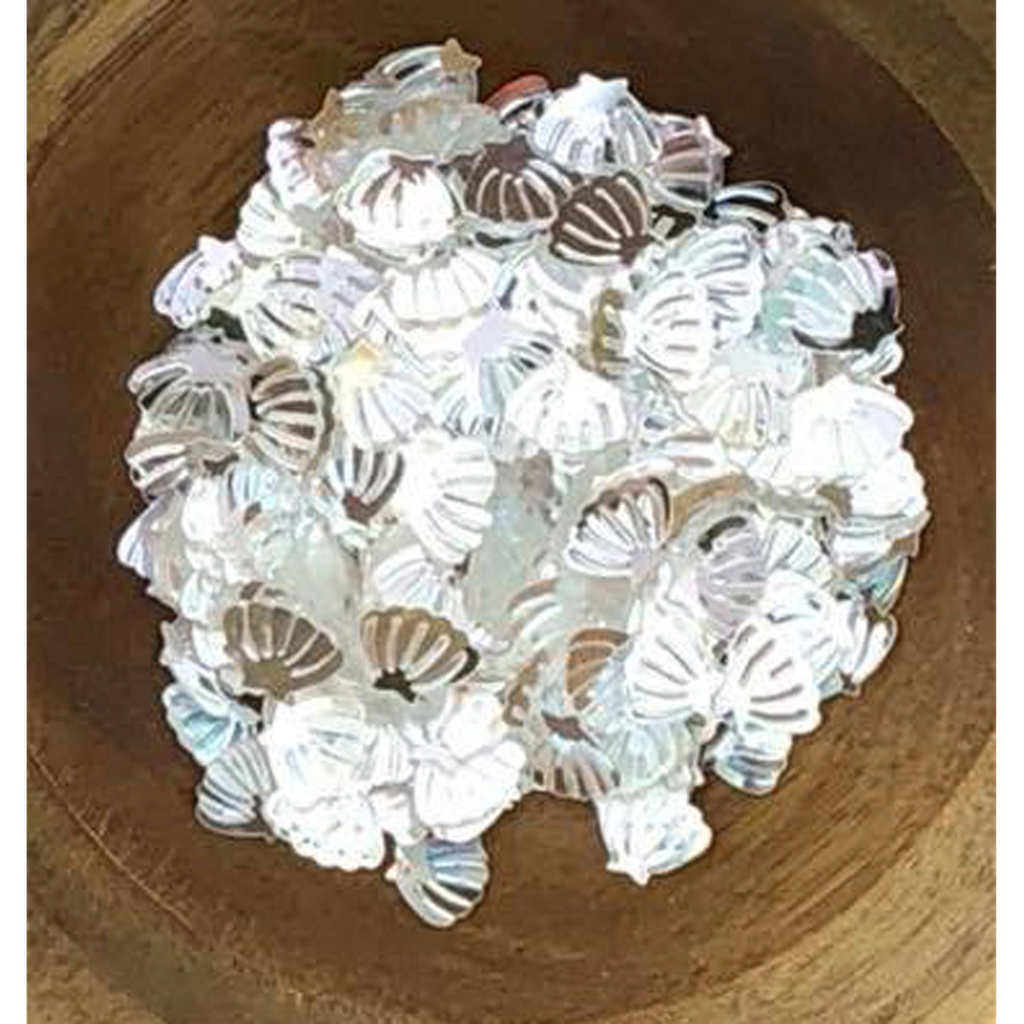 Mini Clear Seashell Sequins by Kat Scrappiness - Kat Scrappiness