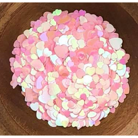 Pink Solid Hearts Sequin Mix - Kat Scrappiness