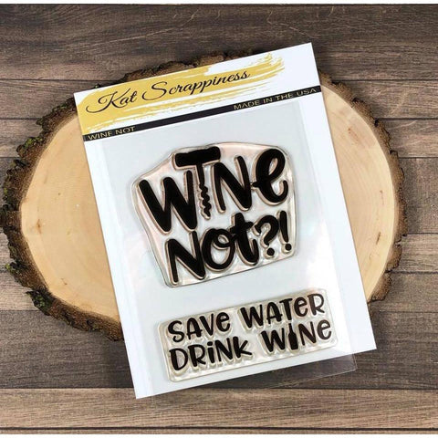 """Wine Not"" Stamp Set by Kat Scrappiness - Kat Scrappiness"