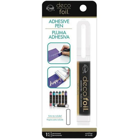Deco Foil Adhesive Pen .34fl oz - Glue Pen For Foiling! - Kat Scrappiness