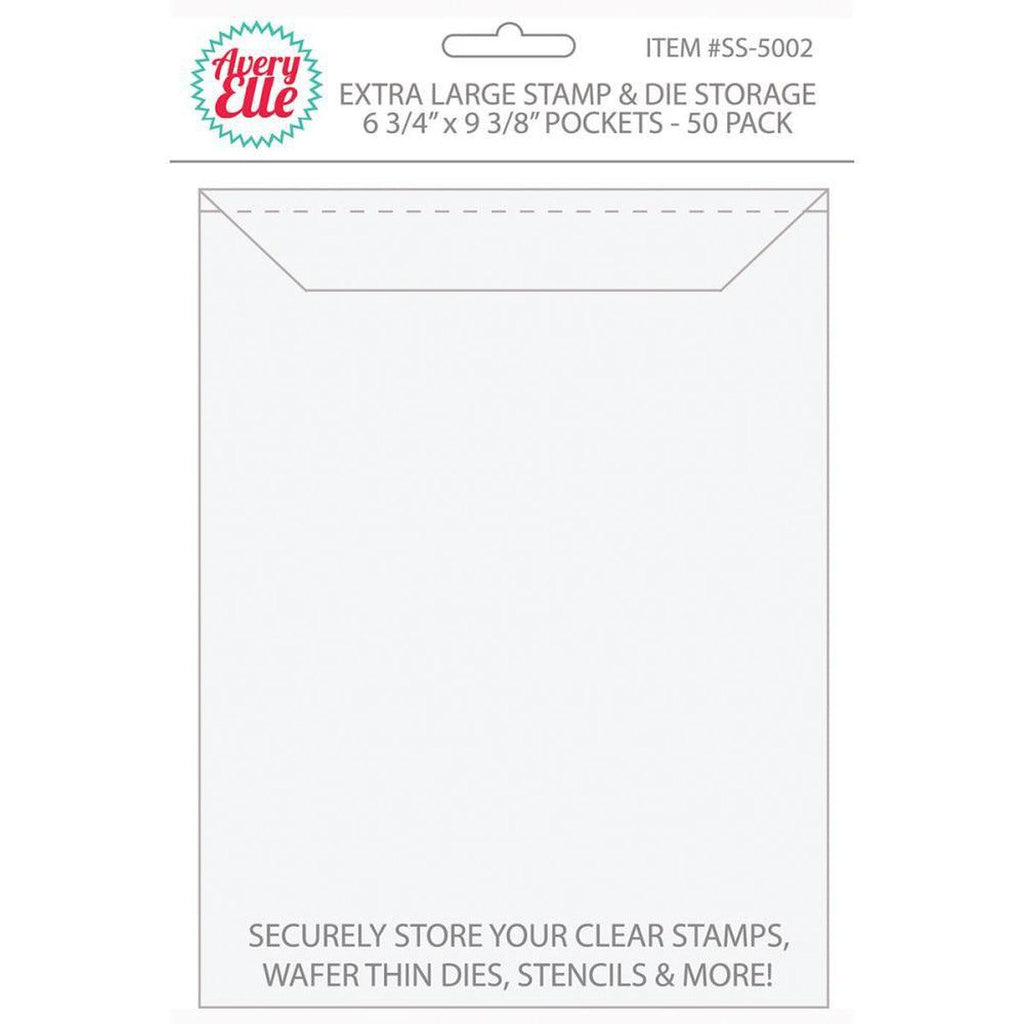"Avery Elle Stamp & Die Storage Pockets 50/Pkg - Extra Large 6.75""X9.25"" - Kat Scrappiness"