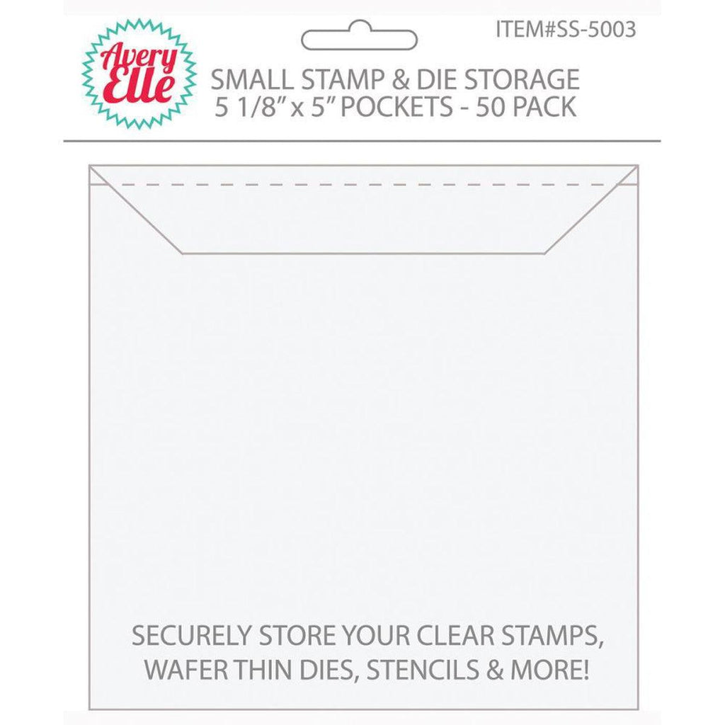 "Avery Elle Stamp & Die Storage Pockets 50/Pkg - Small 5""X5"" - Kat Scrappiness"