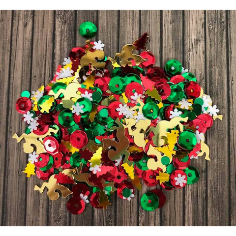 Joy and Wonder Christmas Sequin Mix by Kat Scrapiness - Kat Scrappiness