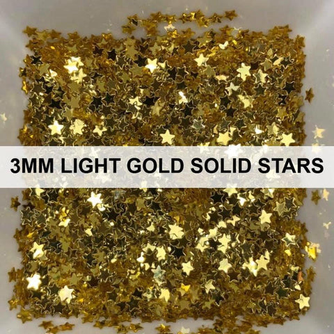 3mm Light Gold Solid Stars - Sequins - Kat Scrappiness