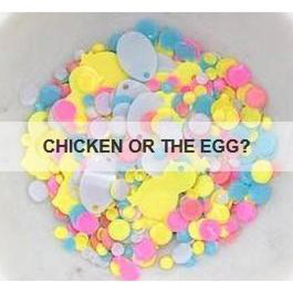 Chicken or the Egg? Sequin Mix - Kat Scrappiness