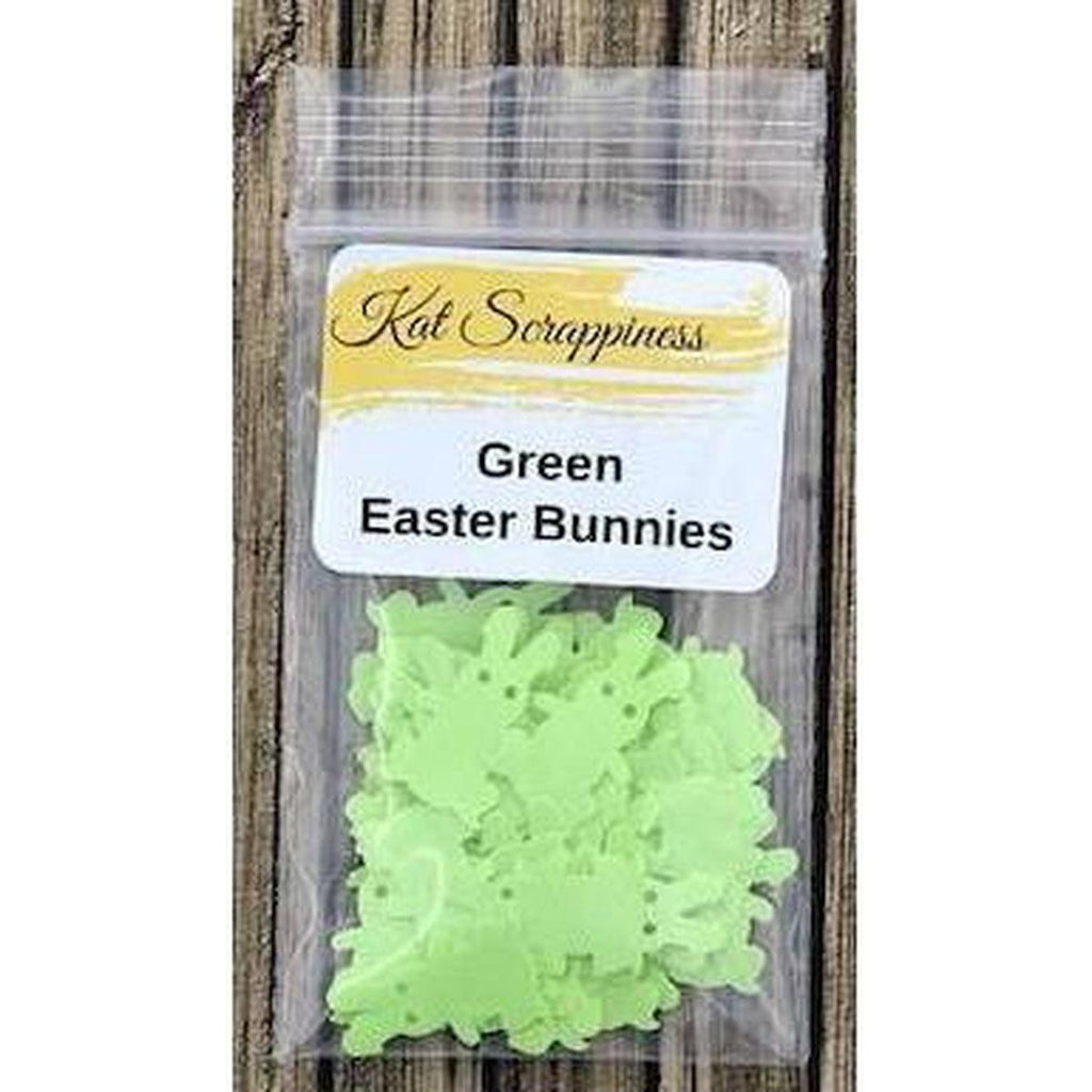 Green Easter Bunny Sequins - Kat Scrappiness
