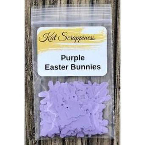 Purple Easter Bunny Sequins - Kat Scrappiness