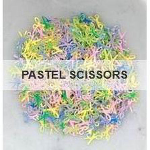Pastel Scissors Sequins by Kat Scrappiness - Kat Scrappiness
