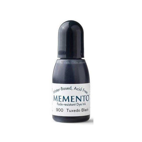 Tuxedo Black Memento Dye Ink Refill .5oz - Kat Scrappiness